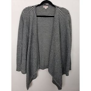 Merona Open Flyaway Striped Cardigan